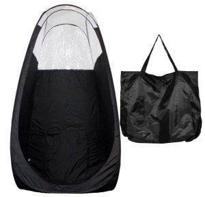 Extraction fans and carry bags are two most important add ons of every tanning tent