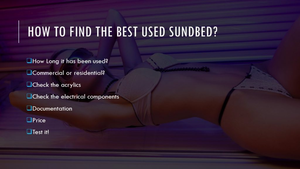 how to find used sunbed