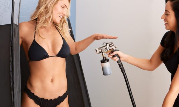 this picture explains spray tanning procedure