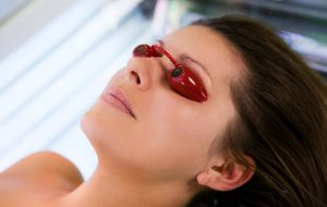 using sunbed without goggles is not at all safe and it will damage your eyes