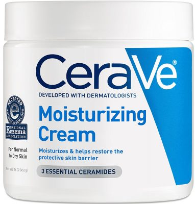 CeraVe Moisturizing Cream is one of the best spray tan extender lotion you can buy