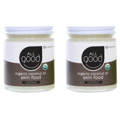All Good Coconut Oil Skin Food is a natural lotion for spray tan