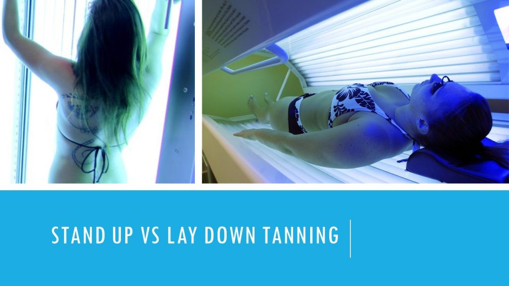 Stand up tanning bed vs lay down tanning differences