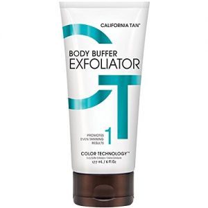 California Tan Buffer Exfoliator is an amazing product you should use right before spray tan