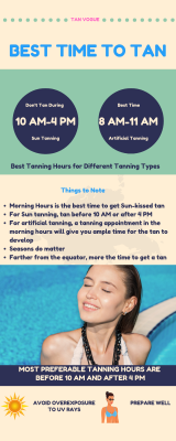 best hours to tan to get an amazing tan