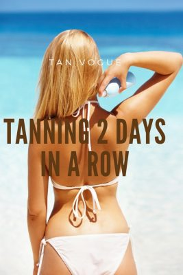 Can You Go Tanning 2 Days in a row?